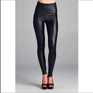 Pants - S-2XL High Waisted Matte Vegan Leather